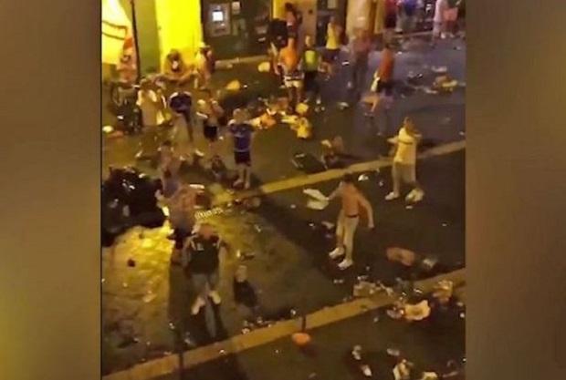 """Francuscy """"ultrasi"""" zaatakowali  polskich i irlandzkich kibiców w Nicei"""