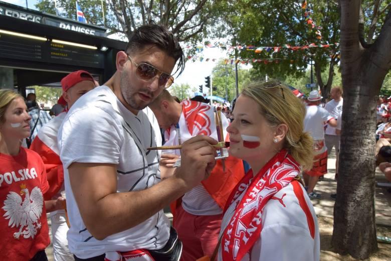 Saint-Étienne na biało-czerwono przed meczem Polska-Szwajcaria