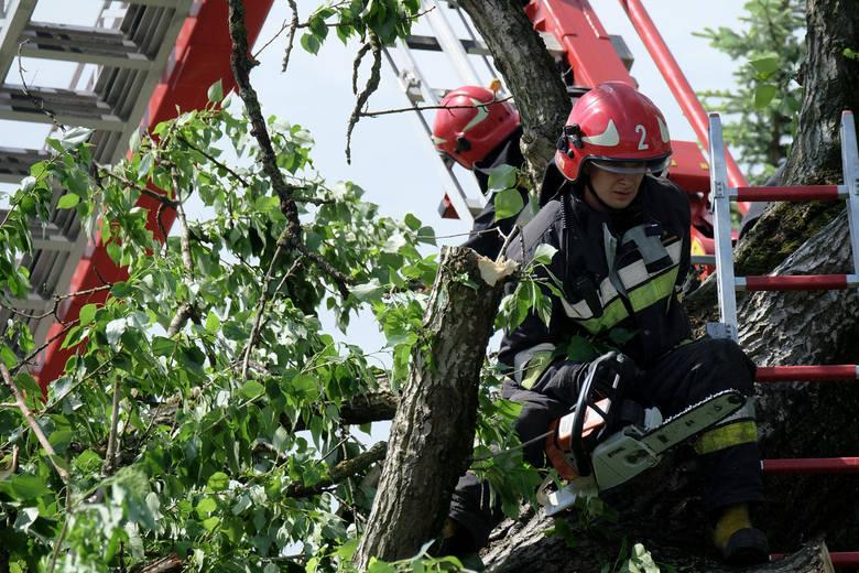 Na Śląsku wiatr zrywał dachy i łamał drzewa