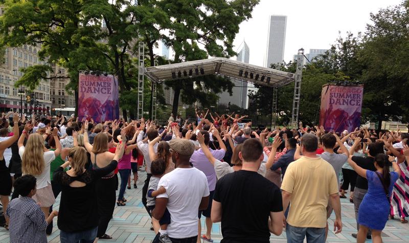 Darmowa nauka tańca w Grant Park