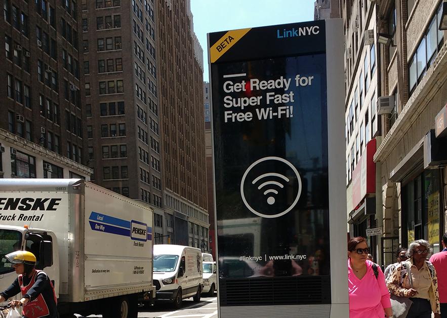 Zdewasowali nowy WiFi Kiosk w parku na Bronksie