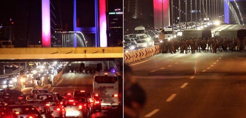 Zamach stanu w Turcji. Turcy wyszli na ulice i place. Słychać strzały