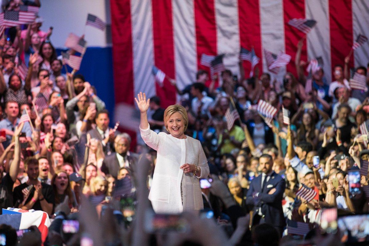 Hillary Clinton formalnie nominowana na kandydatkę w wyborach prezydenckich