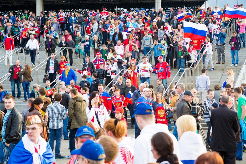 Rosyjscy kibice liczą, że dziś wieczorem będą mieli powody do świętowania