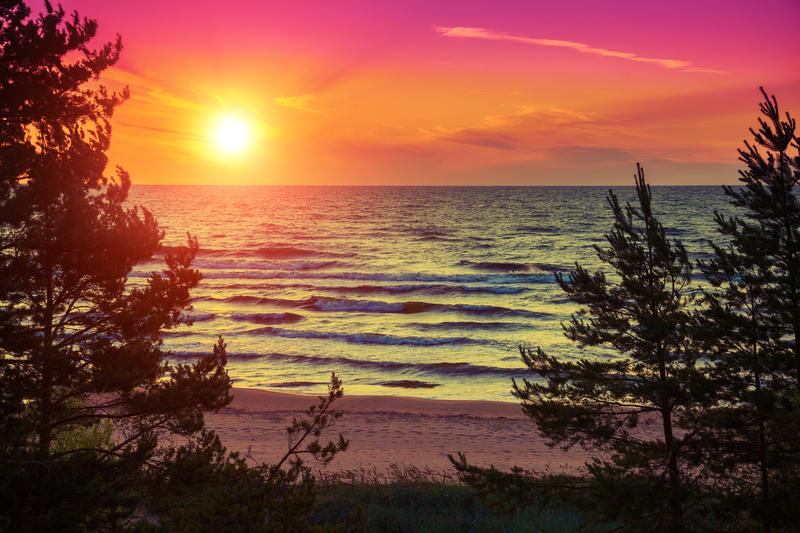 Łukęcin – morze, sosny i przepiękne zachody słońca
