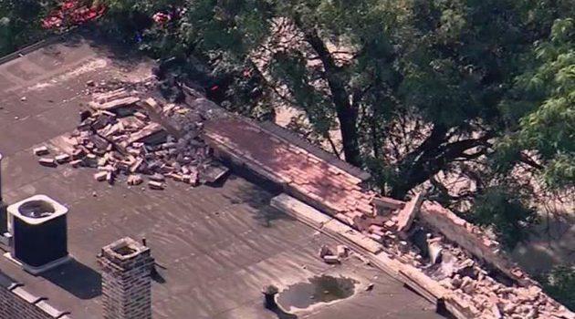 Dwie osoby ranne po zawaleniu się ściany budynku w Chicago