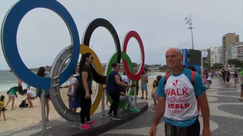 Przeszedł ponad 18 tys. kilometrów, by dotrzeć do Rio