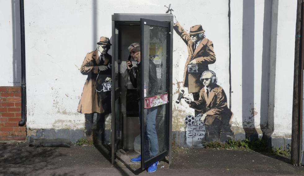 Mural Banksy'ego zniszczony!