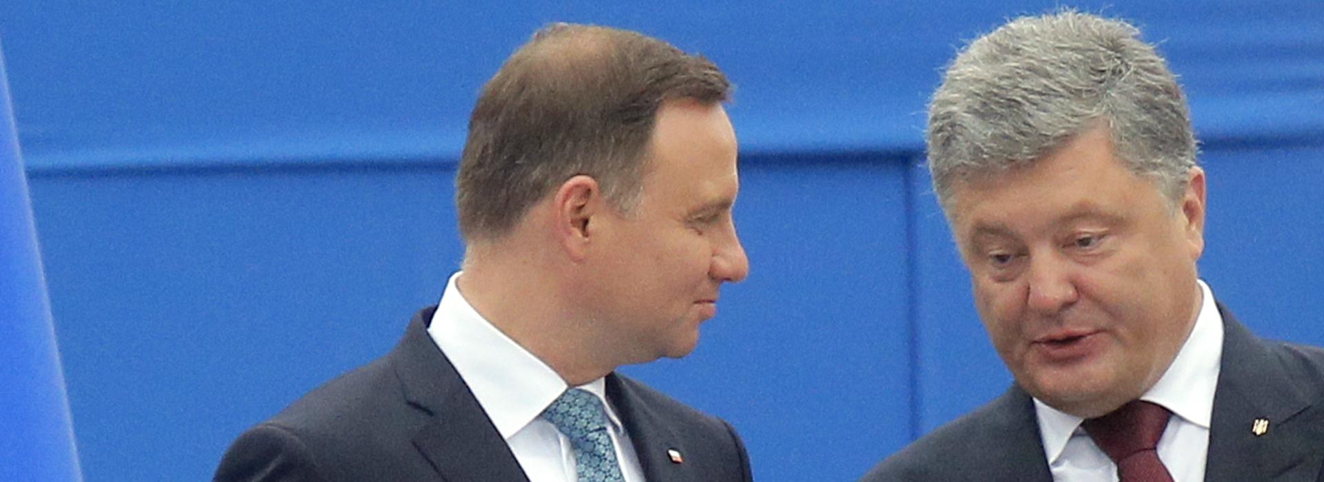 Poroszenko po spotkaniu z Andrzejem Dudą: Nie należy upolityczniać przeszłości