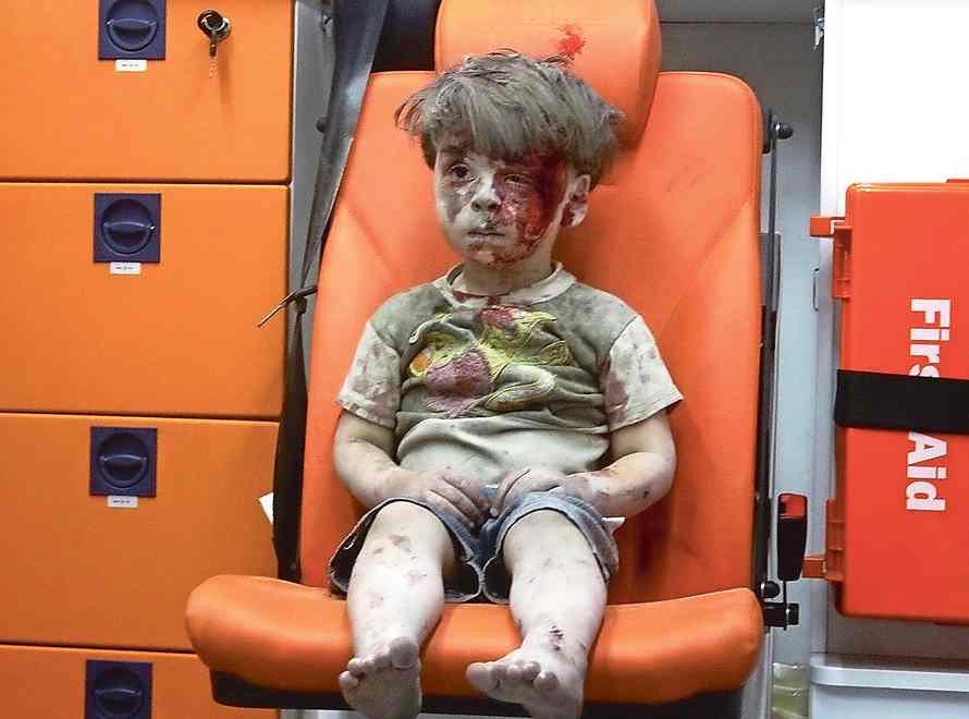 Tragedia i cierpienie dzieci w wojnie domowej w Syrii