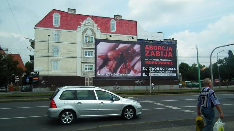 Kraków: Nie bedzie kary za wywieszenie antyaborcyjnego bilbordu z martwym płodem
