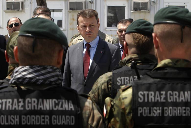 Funkcjonariusze Straży Granicznej odznaczeni przez szefa MSWiA
