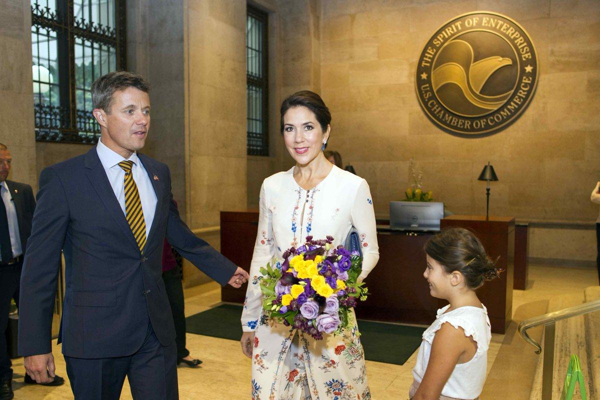 Duńska para książęca z wizytą w Bostonie