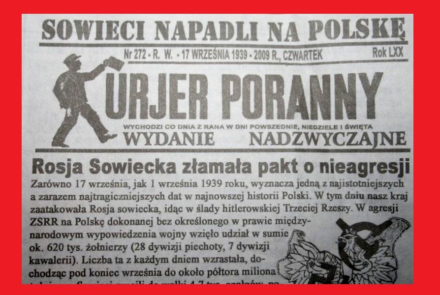 77. rocznica napaści Związku Radzieckiego na Polskę