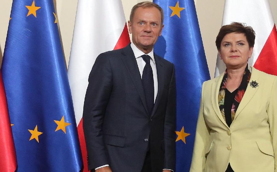 Donald Tusk rozmawiał z premier Beatą Szydło