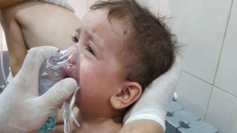 Syryjskie siły rządowe zrzuciły na Aleppo bomby z chlorem