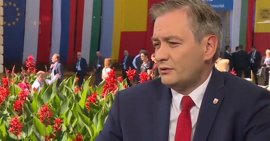 List Roberta Biedronia do premier Szydło