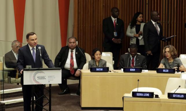 Wystąpienie prezydenta Andrzeja Dudy na forum ONZ