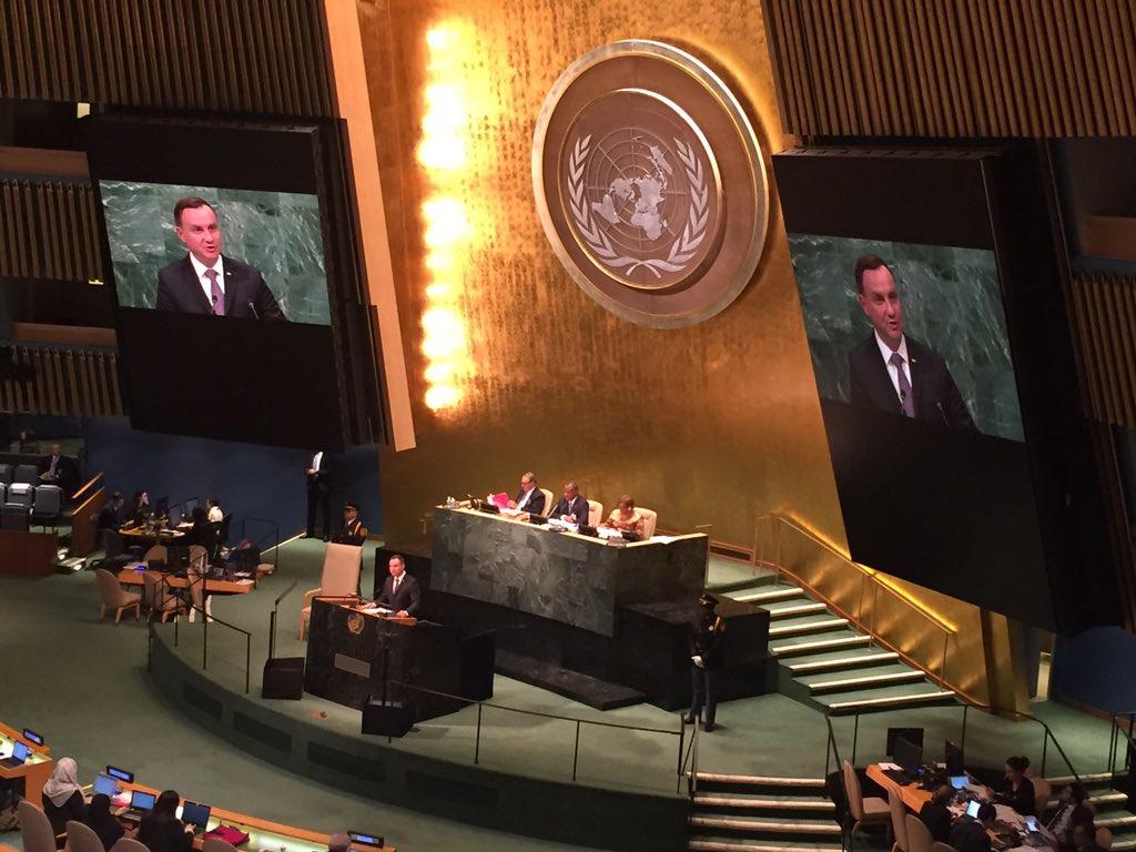 Prezydent Duda wystąpił w debacie generalnej 71.sesji ONZ