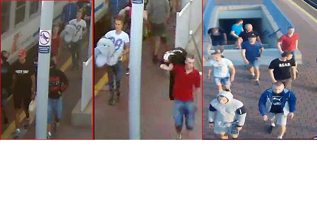 Kibole Widzewa Łódź poszukiwani przez policję (zdjęcia)