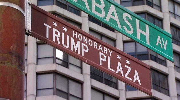 Skradziono tablicę z nazwą Trump Plaza