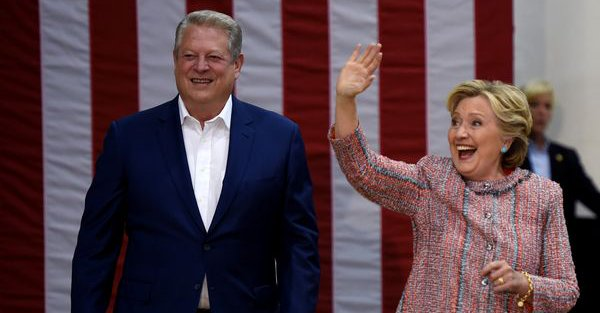 Clinton i Gore ostrzegali na Florydzie przed zmianami klimatycznymi
