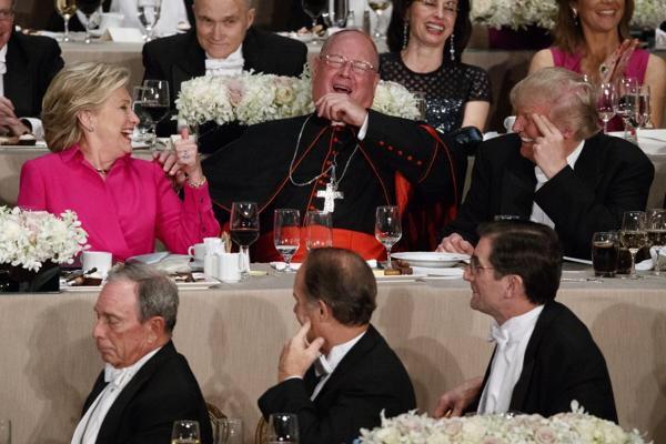 Clinton i Trump na wspólnej kolacji charytatywnej katolickiej Fundacji Alfreda Smitha