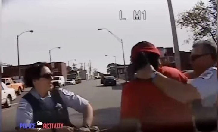 Opublikowano nagrania z pobicia policjantki (VIDEO)