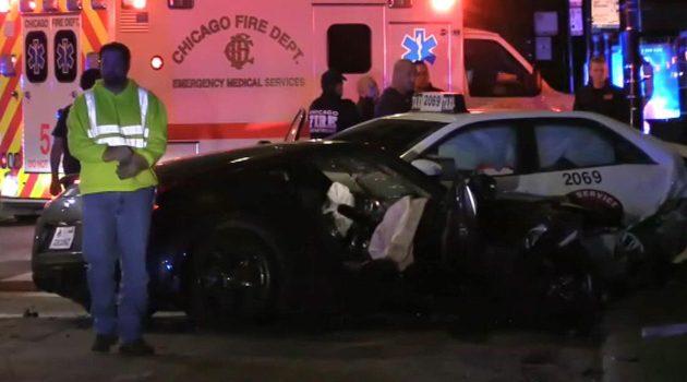 Wypadek na Lake Shore Drive, 4 osoby ranne