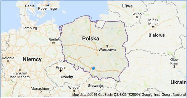 Google przesunęło granicę Polski