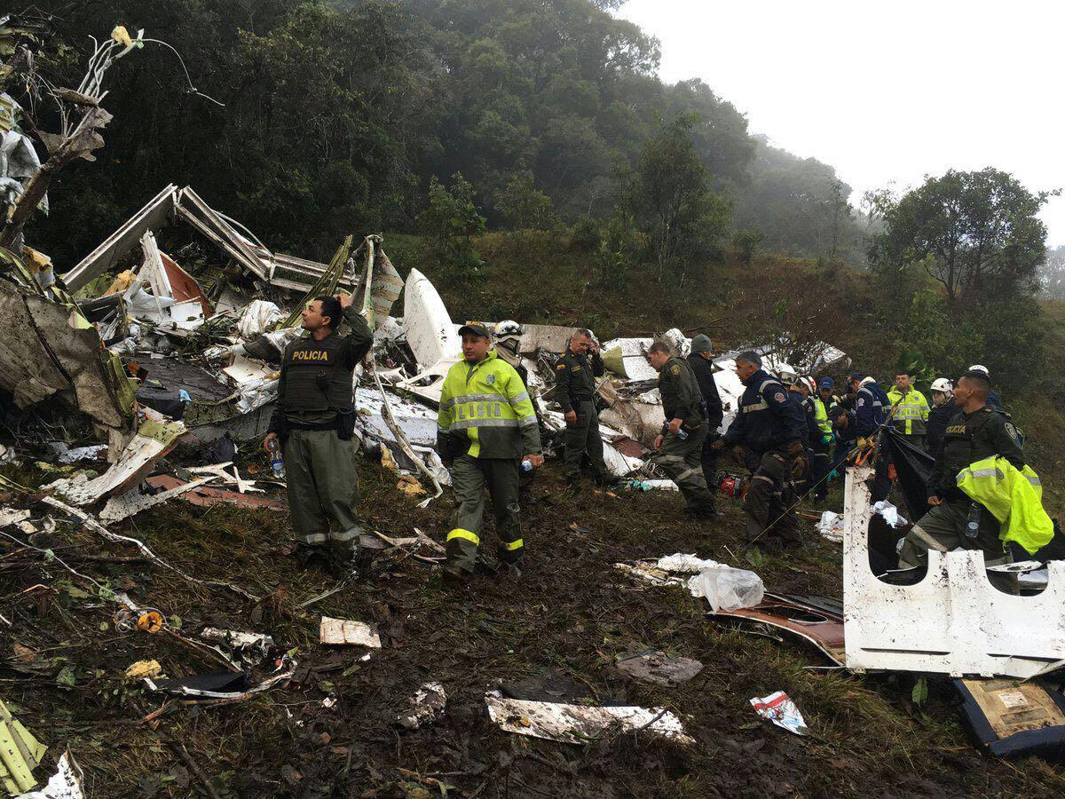 Katastrofa samolotu w Kolumbii – odnaleziono czarne skrzynki