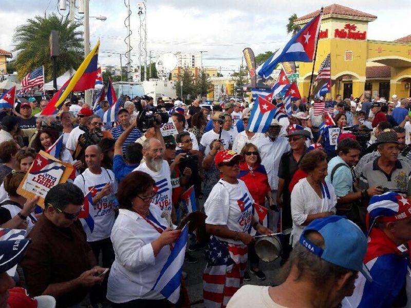 Kubańczycy z Miami domagają się wolności dla swojej ojczyzny
