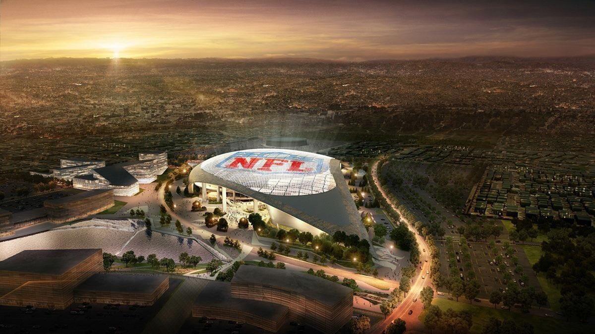 Przez deszcz nowy stadion na przedmieściach Los Angeles zostanie otwarty rok później