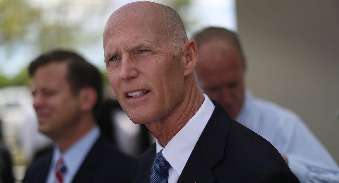 Senator Scott zabierze ojca ofiary strzelaniny w Parkland na orędzie Trumpa