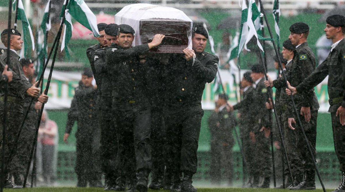 Chapecoense pożegnało swoich piłkarzy