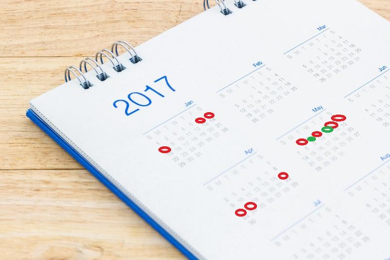 Długie weekendy w 2017 roku – sprawdź, kiedy odpoczniesz