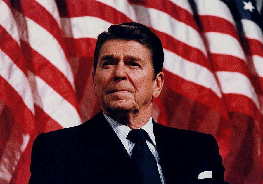 Hologram Ronalda Reagana w bibliotece w Kalifornii