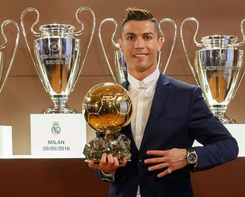 """Cristiano Ronaldo zdobywcą Złotej Piłki """"France Football"""""""