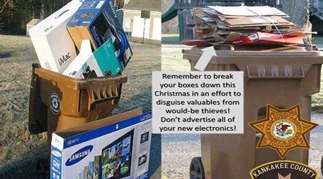 Nasze świąteczne śmieci to wizytówka dla złodziei