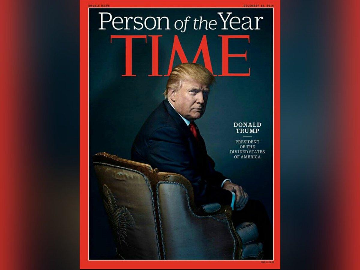 """Donald Trump człowiekiem roku magazynu """"Time"""""""