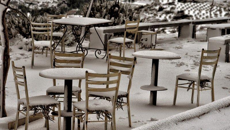 Atak zimy w Grecji