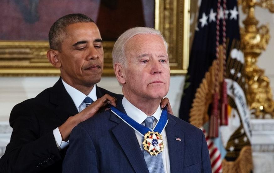 Wiceprezydent Joe Biden odznaczony Prezydenckim Medalem Wolności