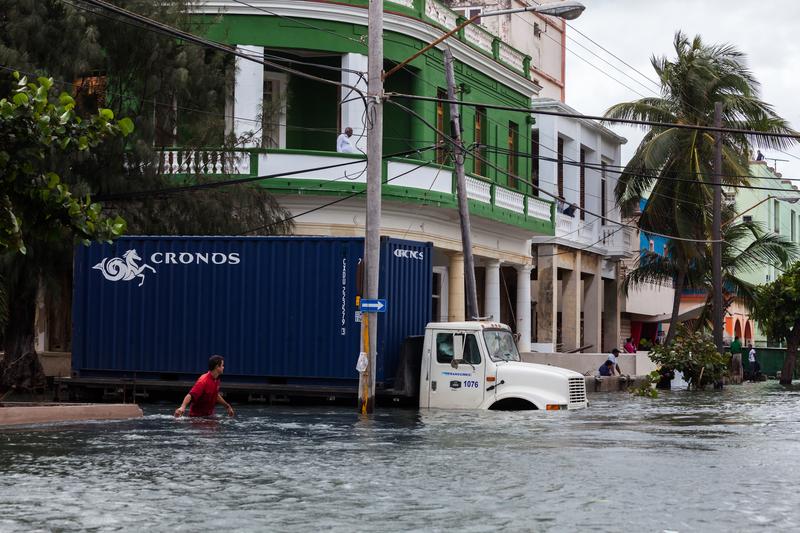 Powódź na północnym wybrzeżu Kuby