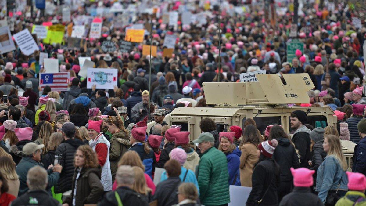 Miliony kobiet w proteście przeciwko Trumpowi