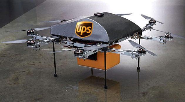 Drony dostarczą przesyłkę UPS?