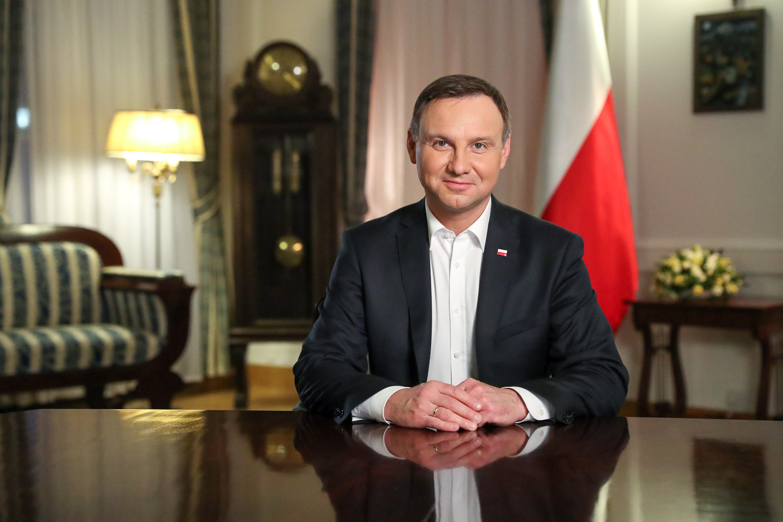 """Prezydent Andrzej Duda podziękował Marcinowi Gortatowi za 'Polską Noc"""" w NBA"""