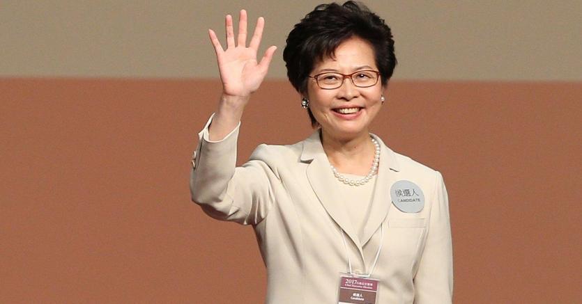 Propekińska polityk Carrie Lam nową szefową administracji Hongkongu