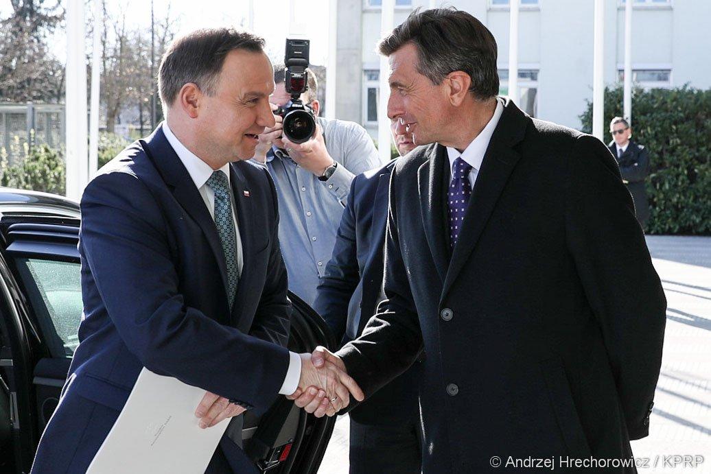 Andrzej Duda zachęca słoweńskich przedsiębiorców do inwestowania w Polsce