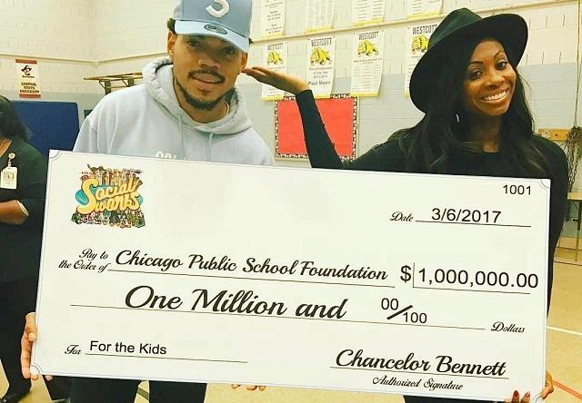 Chance the Rapper przekazał milion dolarów dla Chicagowskich Szkół Publicznych!