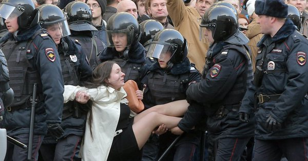 W Rosji zatrzymano ponad 1300 opozycjonistów